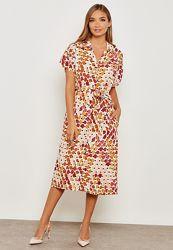 Принтованное платье рубашка Mango - S, M, L