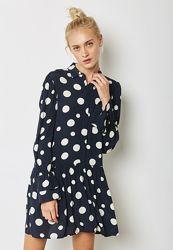 Платье - комбинезон в крупный горошек с жемчужными пуговицами Mango - S, M