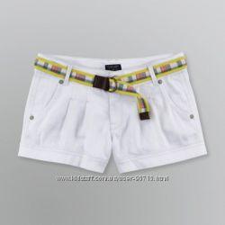 Шикарные джинсовые и белые шорты с ремнем фирмы US Polo из США
