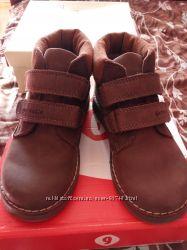 Натуральные полностью кожаные ботинки
