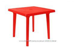 Новый пластиковый стол 80х80 см