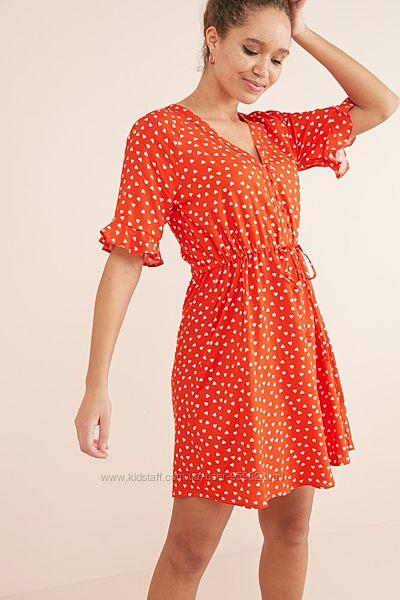Платье с сердечками next