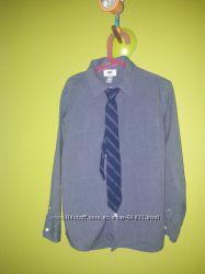 Рубашки Old Navy 8 лет, хлопок, с галстуками, 3 штуки в идеале