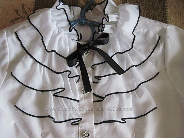 Красивые блузочки на  134см