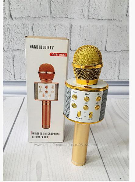 Микрофон для караоке беспроводной  858 Разные цвета