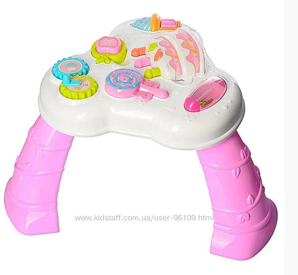 Музыкальный развивающий столик розовый 8581