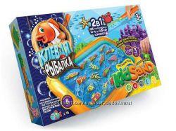 Игровой набор 2в1 Клёвая рыбалка Кинетический песок KidSand Данко Тойс