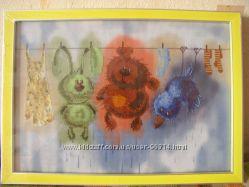 Картина-вышивка в детскую Банный день 3223