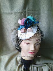 Свадебные шляпки, вуалетки, обручи, цветы из ткани, аксессуары для волос
