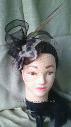 вечерняя шляпка с вуалью, цилиндр, таблетка, свадебные аксессуары