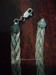 Колье цепочка алмазная грань серебро 925 Италия