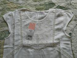 tape-a-loeil, Новая белая блуза, 14лет, вышивка, кружево, короткий рукав