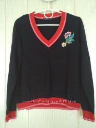 Не реально красивый катоновый свитер из вышивкой