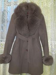 Зимове пальто, натуральний мех 48р