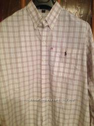 рубашка шикарная Polo Ralph Lauren р. XL хлопок