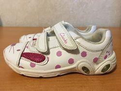 кроссовки с мигалками Clarks binkies р. 25 кожаные