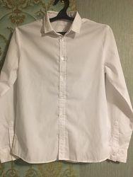 рубашка стильная белая от H&M подростковая
