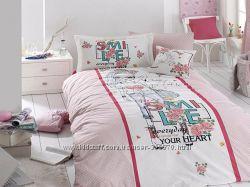 Полуторное постельное белье из натурального хлопка First choice