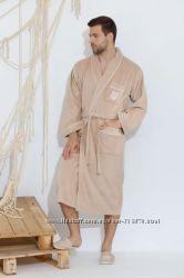 Велюровые натуральные элитные мужские халаты Boswel Maison D&acuteor Paris