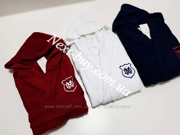 Подростковый халат для мальчика Maison Dor Sports с капюшоном  10-16 лет