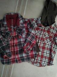 Теплые рубашки мальчику 3-4 года