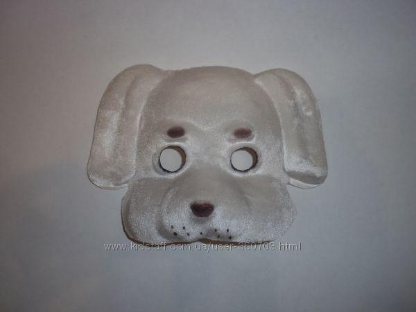 Маска праздничная новогодняя карнавальная собака