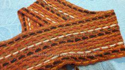 Красивый теплый шарф крупной вязки