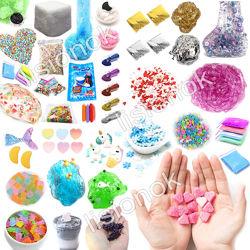 Набор всех добавок для слаймов slime box, шармики, посыпки, снег, бусины