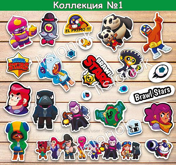 Набор наклеек Brawl stars с героями любимой игры, стикеры Бравл Старс