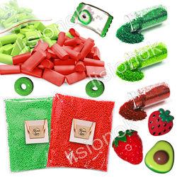 Slime box клубника и авокадо набор добавок для слайма шармики, пенопласт