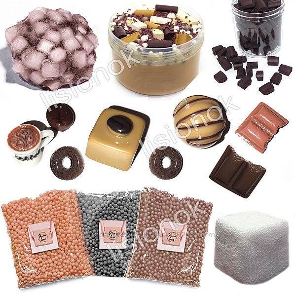 Slime box шоколадный макиато набор добавок для слайма шармики, пенопласт