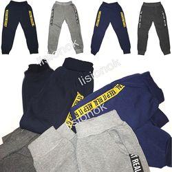 Утепленные спортивные штаны с плотным начесом на рост 98-116см