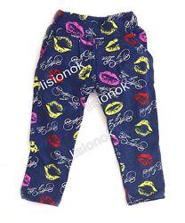 Летние штаны с карманами для девочек 86-122см 100 хлопок