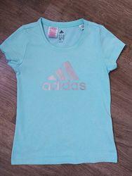Футболка мятного цвета с принтом Adidas