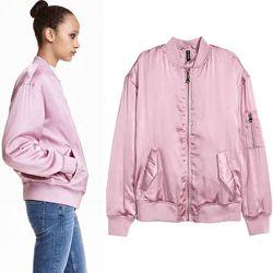 Женские куртки косуха ветровка джинсовая куртка легкий пуховик H&M Англия