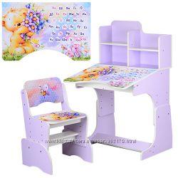 Дошкольны Школьные парты со стульчиком  BAMBI 2071 ростишка Много вариантов