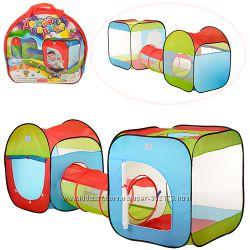 Детская игровая палатка два домика с тоннелем M 2503 4 входа 2407484 см