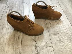 Ботинки женские 5th Avenue 25cм натур. замша