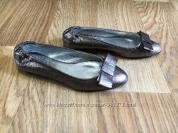 Туфли балетки Zara 22. 5см натуральная кожа