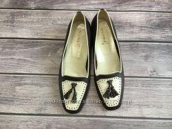 Туфли лоферы женские Италия 24. 5см натуральная кожа