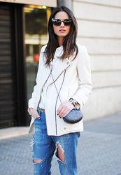 Косуха Zara С ХС удлиненный пиджак куртка женская