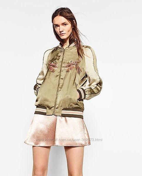 Куртка бомбер женская М С Zara ветровка