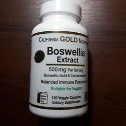California Gold Nutrition, Экстракт босвеллии, с экстрактом куркумы, 500 мг