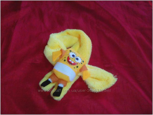 Мягкие плюшевые шарфики с игрушкой для малышей