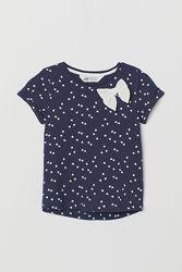 футболочка в сердечки с бантиком три размера