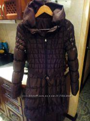Зимняя куртка пуховик  шоколадного цвета