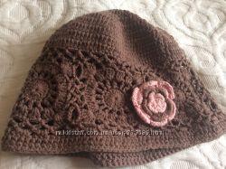 Вязаные шапочки для малышек 12-18 m