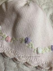 Вязанные шапочки для малышек 3-12m
