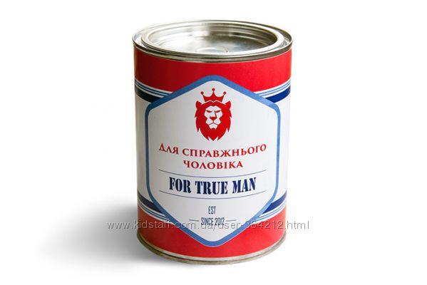 Подарок Носки в банке Для настоящего мужчины 5 пар Черные