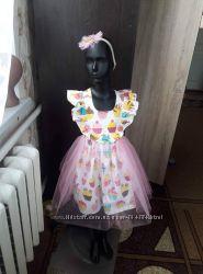 Платье -сарафан и повязка